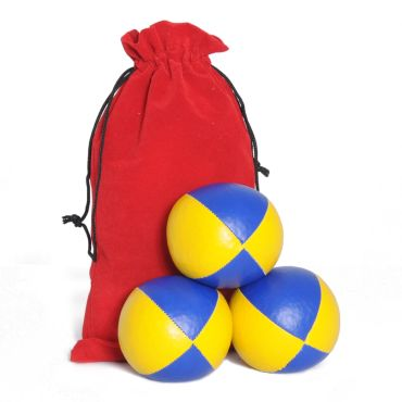 Juggling Ball Set - Blue & Yellow
