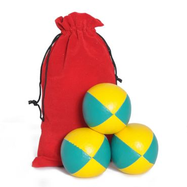 Juggling Ball Set - Green & Yellow