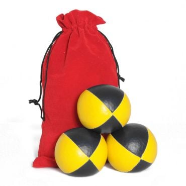 Juggling Ball Set - Black & Yellow (120g)