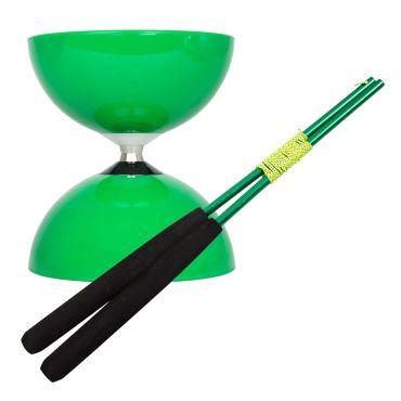 Juggle Dream Big Top Bearing Diabolo - Green