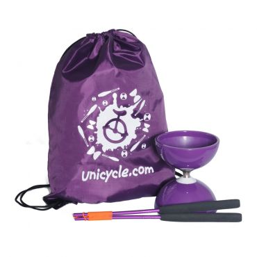 Juggle Dream Big Top Bearing Diabolo - Purple