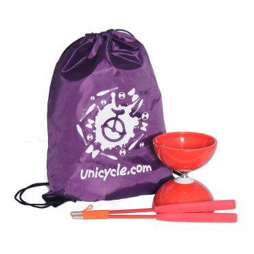 Juggle Dream Big Top Bearing Diabolo - Red