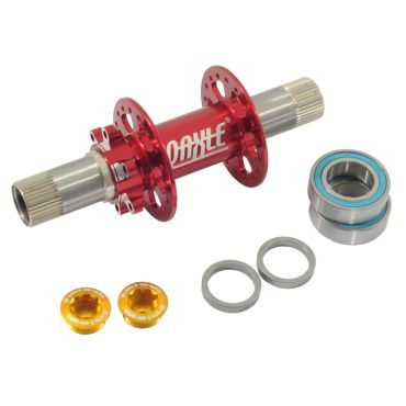 Qu-Ax Q-Axle Disc Hub, 36 Hole - Red