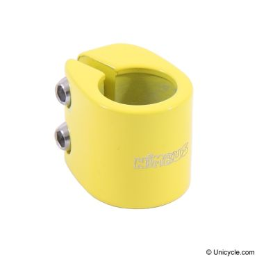Nimbus 'Doublebolt' Seatpost Clamp - Yellow, Option:22.0mm