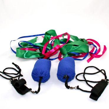 Juggle Dream Ribbon Poi - Blue