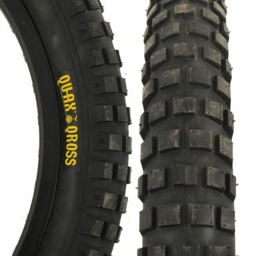 "Qu-Ax Cross 20"" x 2.5"" Tyre - Black"