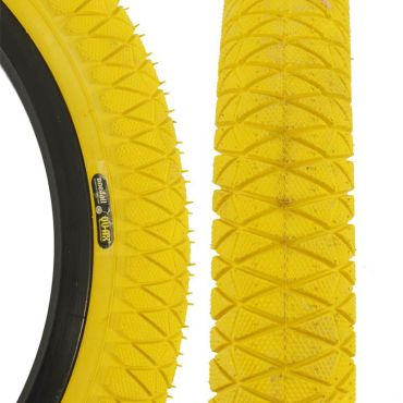 """Qu-Ax Freestyle Tyre 18"""" x  1.95"""" - Yellow"""