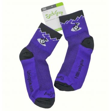 Unicycle.com Socks - Large / XLarge (Purple)