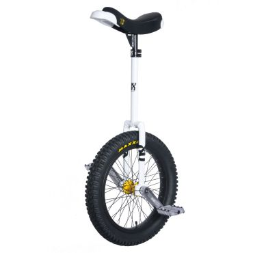 "19"" QX-Series Longneck Unicycle -  White"