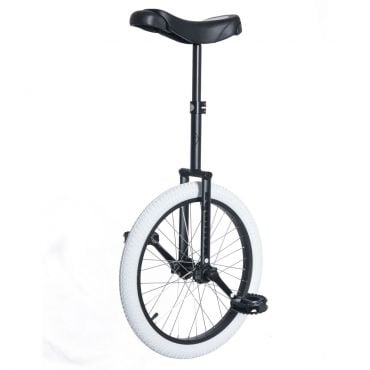 "20"" Club Equinox Unicycle - Black with White Tyre"