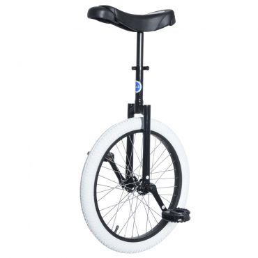 "20"" Club Freestyle Unicycle with White Tyre"