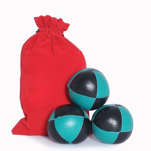 8 Panel Juggling Ball Set - Black & Green