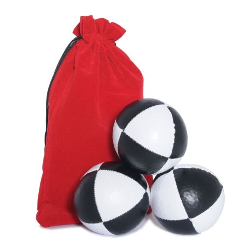 Jac Products Juggling Ball Set - Black & White