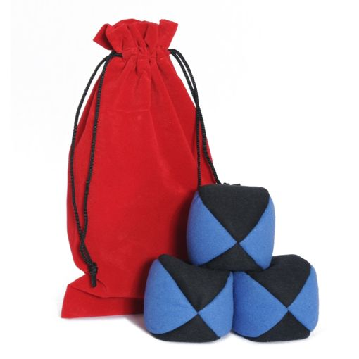 Firetoys Moleskin Ball Set - Blue & Black