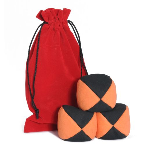 Firetoys Moleskin Ball Set - Orange & Black