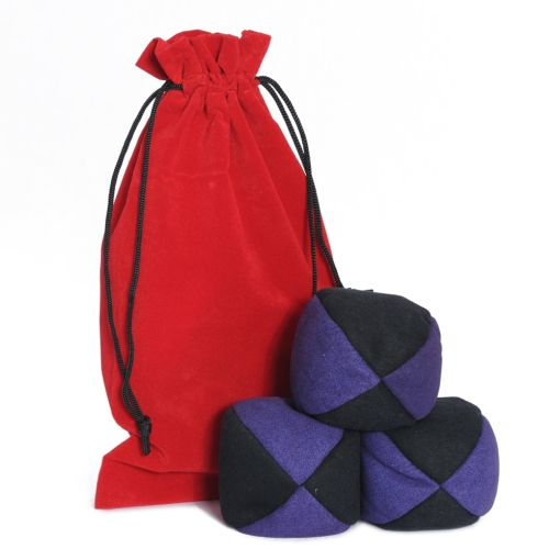 Firetoys Moleskin Ball Set - Purple & Black