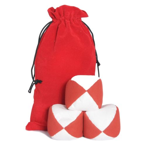Firetoys Moleskin Ball Set - Red & White