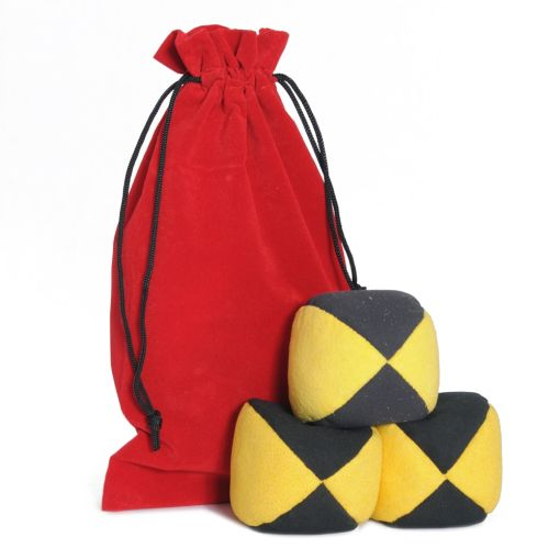 Firetoys Moleskin Ball Set - Yellow & Black