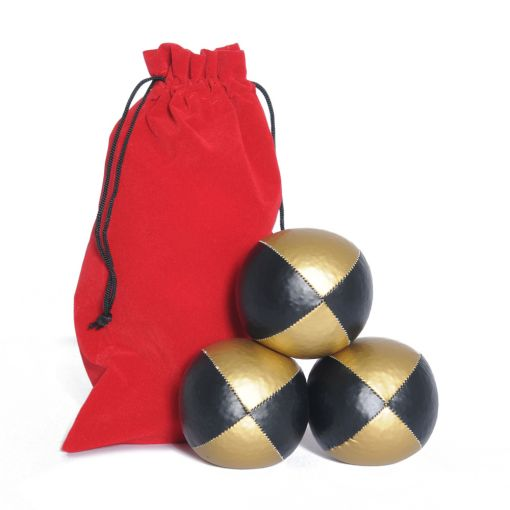 Juggling Ball Set - Black & Gold (120g)