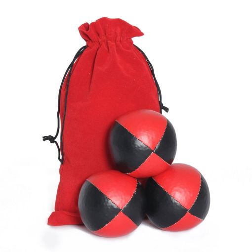 Juggling Ball Set - Red & Black