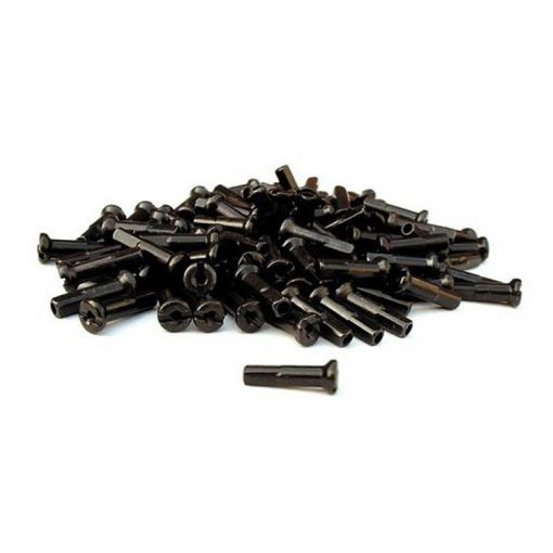 Spoke Nipples 14G - 12mm (Black)