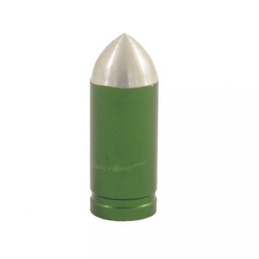 Bullet-shaped Valve Cap - Green