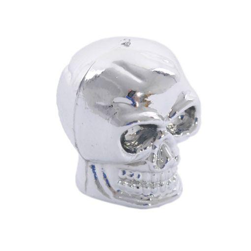 Skull Valve cap - Silver