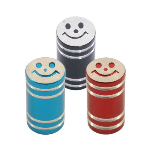 Alloy Smiley Face Valve Cap