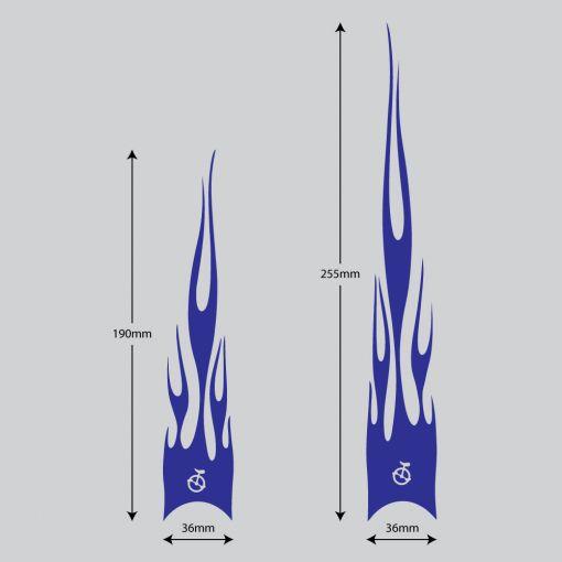 Flame Stickers Short - Dark Blue