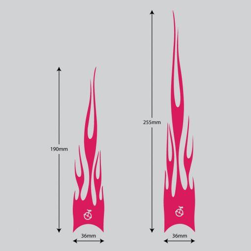 Flame Stickers Short - Fuchsia