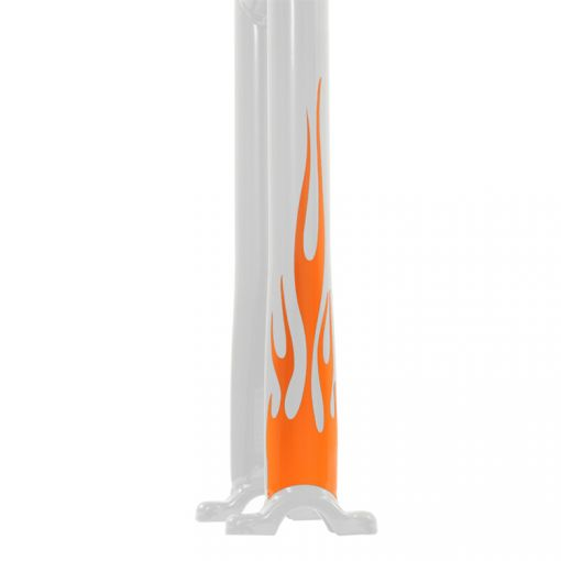 Flame Stickers Long - Orange