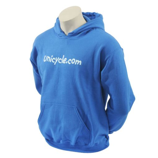 Unicycle.com Hoodie - Blue (Large)