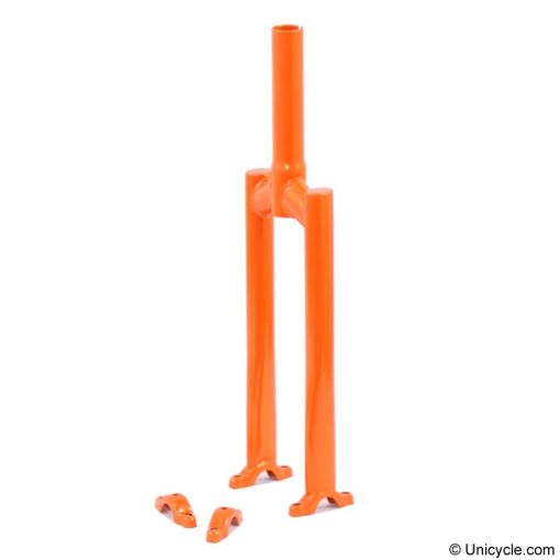"20"" Nimbus II Unicycle Frame - Orange, Option:40mm"
