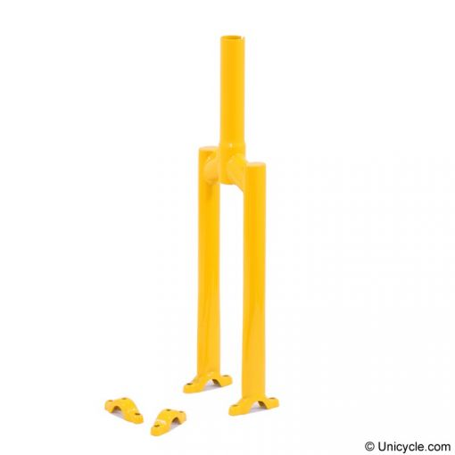 """20"""" Club Unicycle Frame - Yellow, 40mm"""
