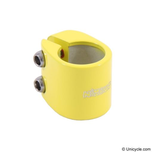 Nimbus 'Doublebolt' Seatpost Clamp - Yellow, Option:25.4mm