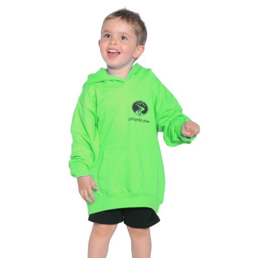 Kids Unicycle.com Hoodie - Green