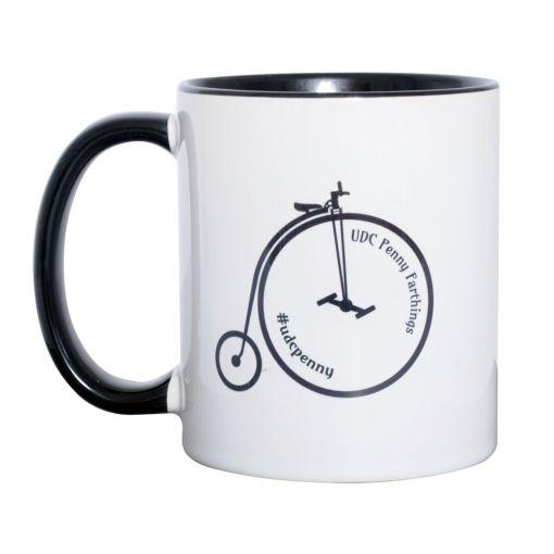 UDC Penny Farthing Mug - Black/White