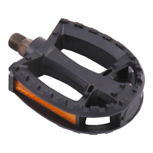 Round Plastic Pedals - Black