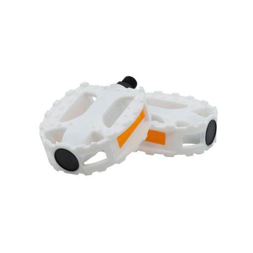 Round Plastic Pedals - White