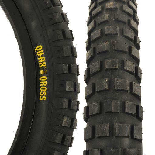 "Qu-Ax Cross 20"" x 2.5"" Tyre - Black"