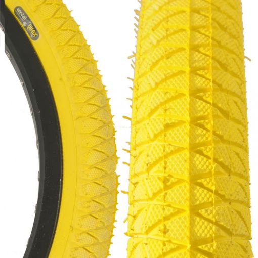"""Qu-Ax Freestyle Tyre 20"""" x 1.95"""" - Yellow"""