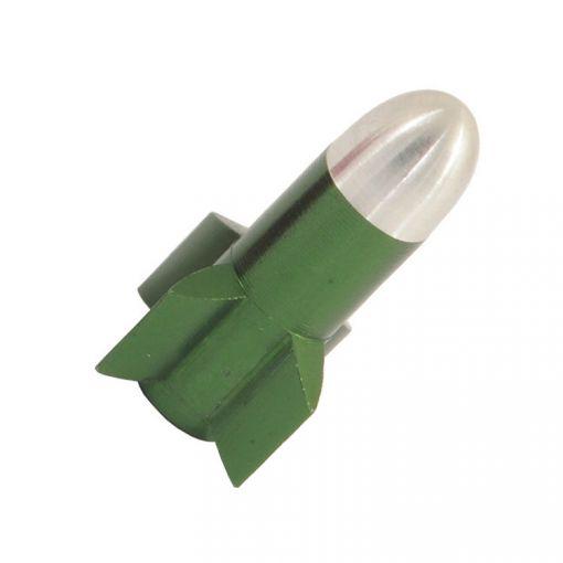 Rocket-shaped Valve Cap - Green