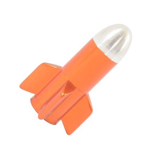 Rocket-shaped Valve Cap - Orange