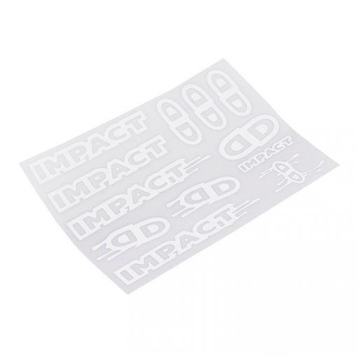 Impact Sticker Set - White