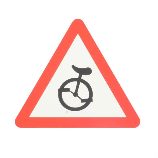 Warning Sticker Unicycle