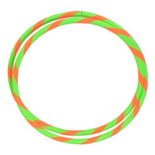 "Travel Hula Hoop 39"" in Green and Orange"