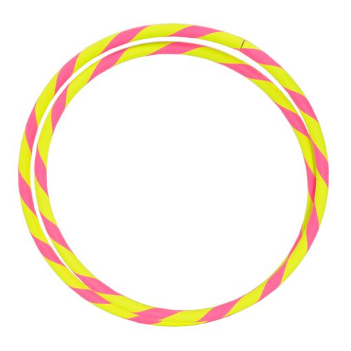 """Travel Hula Hoop 39"""" in Pink and Yellow"""