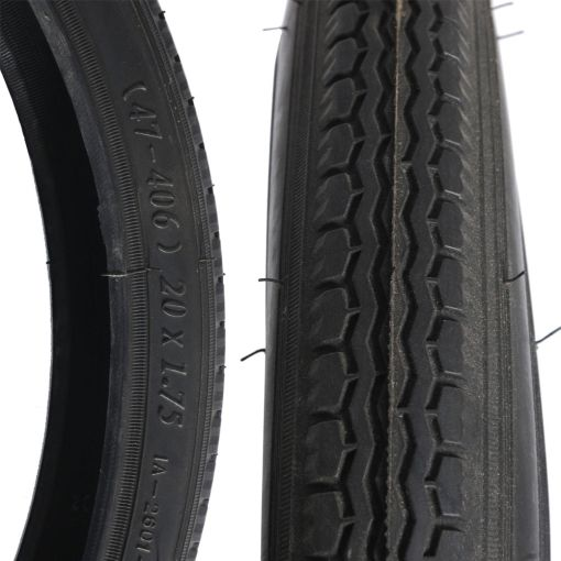 "Unicycle Tyre 20"" x 1.75"" - Black"