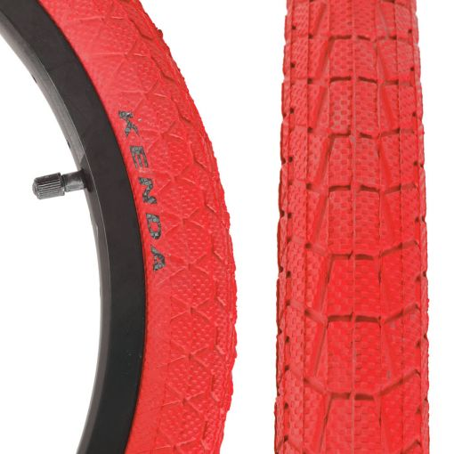"Qu-Ax Freestyle Tyre 20"" x  1.95"" - Red"