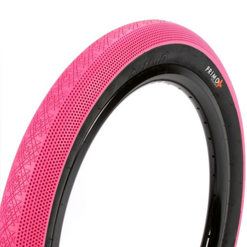 """Primo Richter 20"""" x 2.40"""" Tyre - Pink With Black Sidewall"""